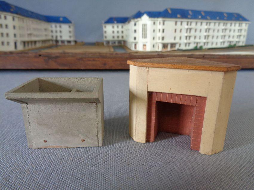 Maquette « Habitations à Bon Marché. Maisons individuelles jumelées ». Office HLM de Saint-Nazaire. Collection Archives municipales de Saint-Nazaire. En cours de restauration.