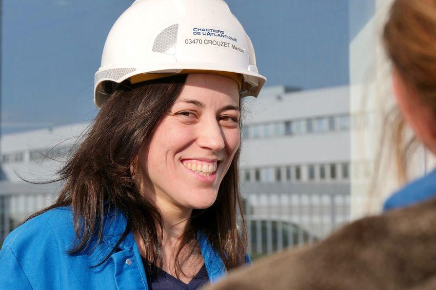 Marion Crouzet, superviseure de travaux aux Chantiers de l'Atlantique depuis mai 2018 (©Ville de Saint-Nazaire - Blandine Bouillon)