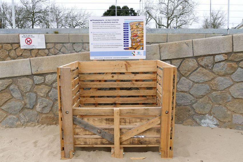 5 bacs à marée sont installés d'octobre à mars sur plusieurs plages de Saint-Nazaire