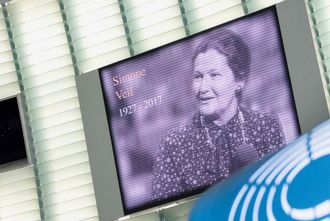 Photo archives : hommage à Simone Veil au Parlement Européen le 4 juillet 2017 © European Union 2017 - European Parliament. (Creative Commons - Photo recadrée)