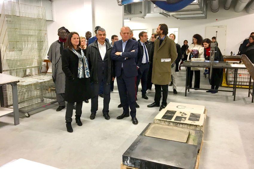 Visite inaugurale de la nouvelle école des Beaux-Arts de Nantes le 7 novembre dernier. © Menoret Nantes-Métropole
