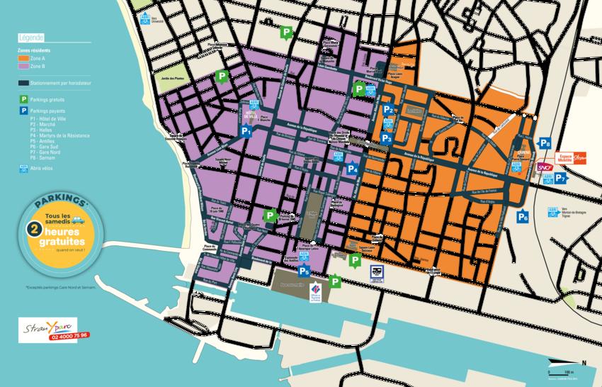 Plan de stationnement au 16 juillet 2018