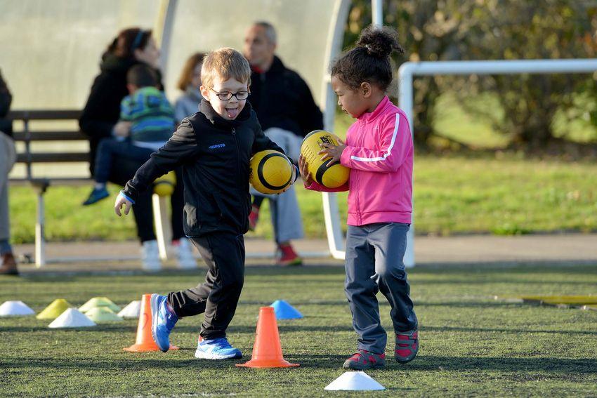 A Saint-Nazaire, le SNO permet de commencer le rugby dès l'âge de 3 ans. (©Ville de Saint-Nazaire - Christian Robert)