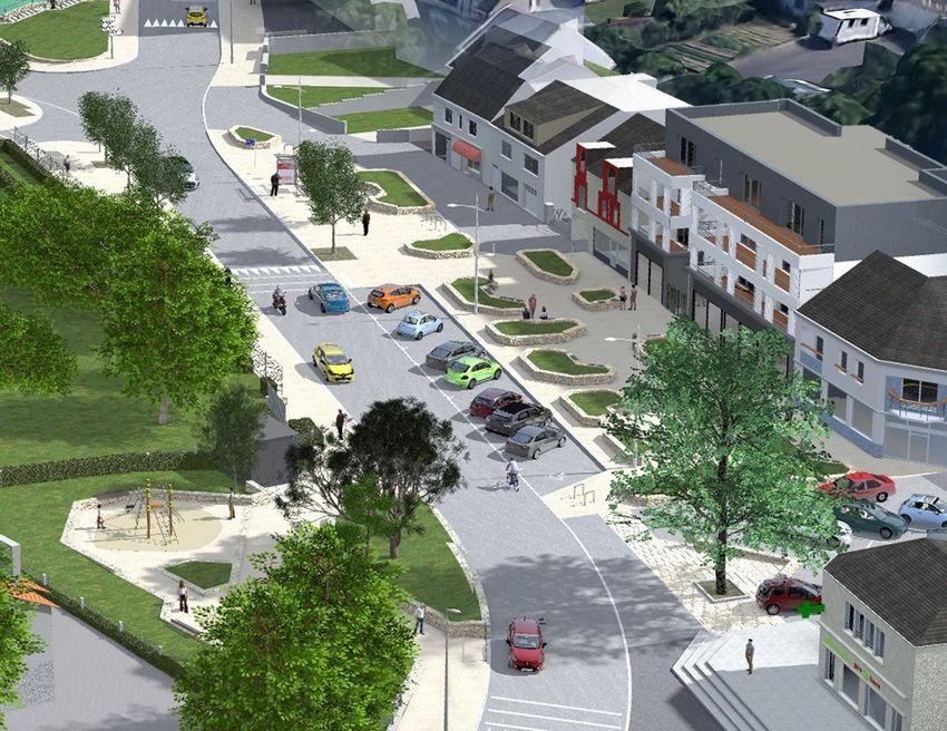 Vue de de la future place Jacques Tati- © Bureau d'études aménagement urbain, Ville de Saint-Nazaire