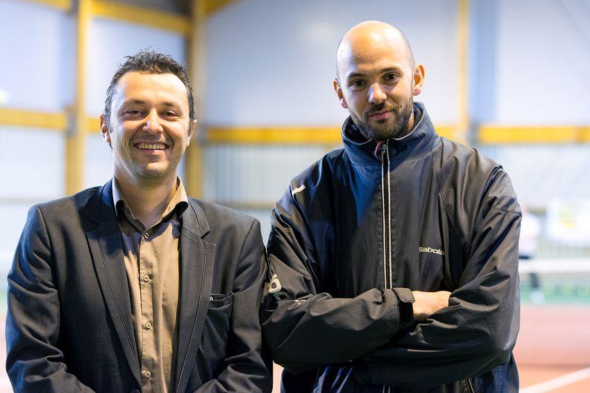 Antoine Dejoie, à gauche, président du Saint-Nazaire Tennis Club et Ludovic Breuil, à droite, directeur.