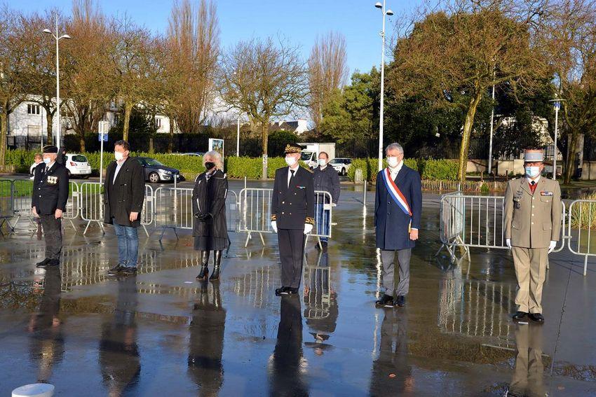 La cérémonie s'est déroulée à huis clos en raison de la crise sanitaire. Photos : Christian Robert - Ville de Saint-Nazaire.