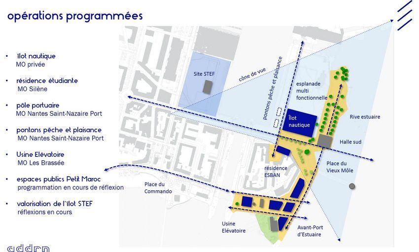 Plan des différentes opérations programmées sur le quartier du Petit Maroc ©ADDRN