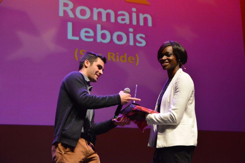 Romain Lebois - 26 ans roller free style - récompensé par Sandra Gomis.
