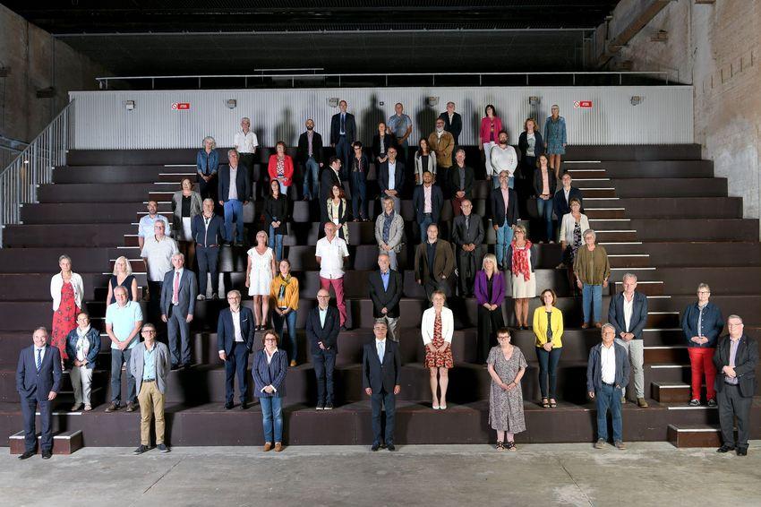 Le conseil communautaire est composé de 60 élus. Absent de la photo Tony Le Pen de Besné.