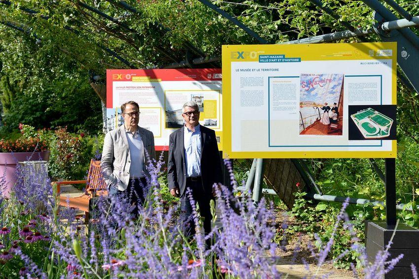 L'adjoint à la culture Michel Ray avec le maire de Saint-Nazaire David Samzun (©Ville de Saint-Nazaire - Christian Robert)