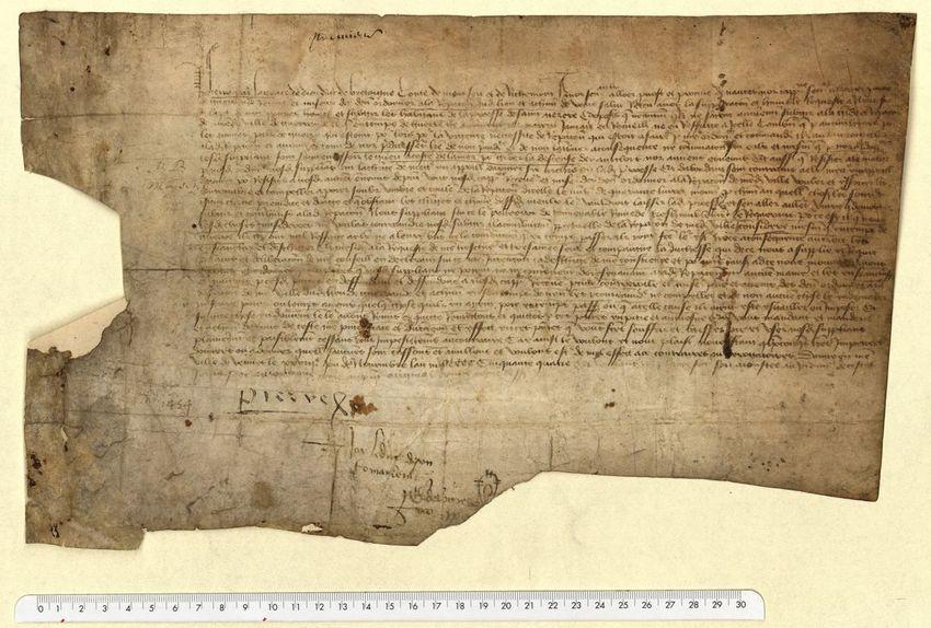 La charte du duc Pierre II, Archives de Saint-Nazaire