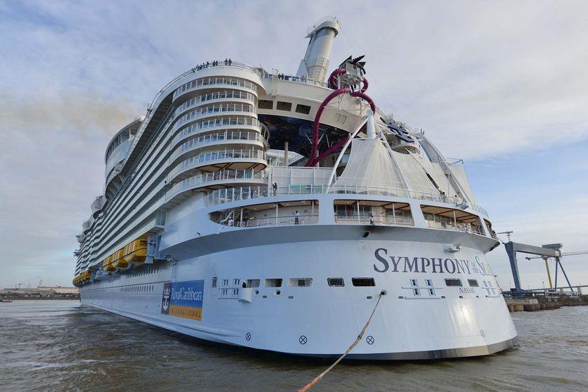 Tout est prêt pour le départ du Symphony of the Seas ce samedi 24 mars à 8h. (© Ville de Saint-Nazaire - Christian Robert)