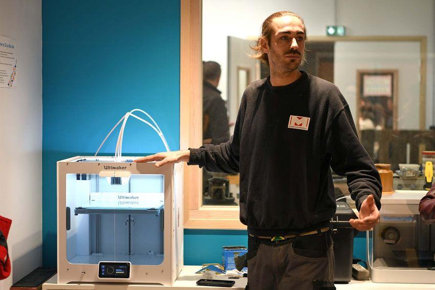 Mathieu Clément est le responsable technique du Blue Lab.