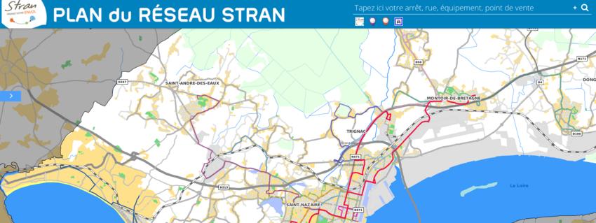 Le plan interactif du réseau Stran