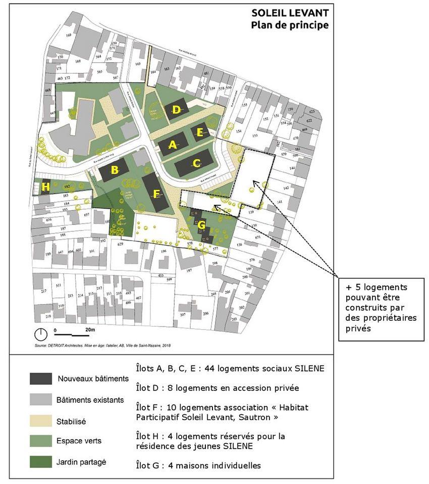 Plan îlot Soleil Levant