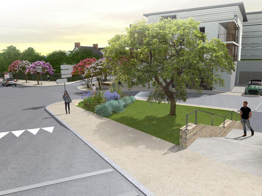Vue du parvis de la future mairie annexe- © Bureau d'études aménagement urbain, Ville de Saint-Nazaire