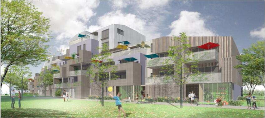 Un premier permis de construire a été délivré pour 48 logements en cœur d'îlot. © Cabinet d'architectes- urbanistes Menguy.