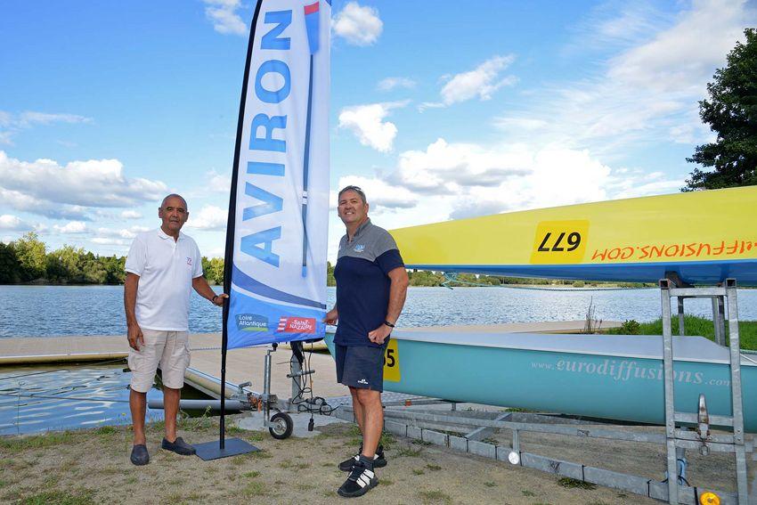 L'aviron, une passion familiale pour Alex Briand – président du club, et son fils Christophe Briand, responsable sportif.