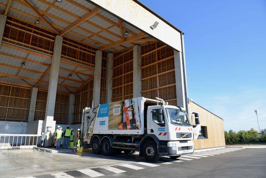 Le centre de transfert des déchets de Brais à Saint-Nazaire.