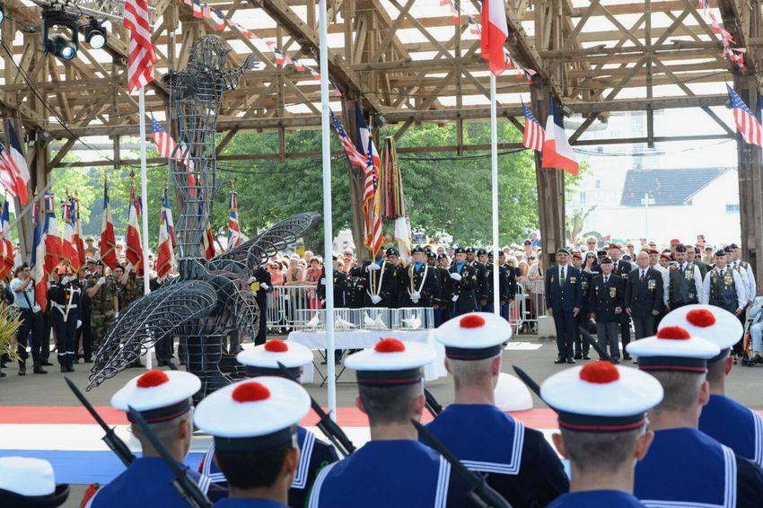 Commémoration officielle du Centenaire du débarquement des troupes américaines.