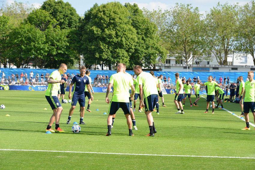 Entrainement ouvert au public de l'équipe de Suède au stade Léo Lagrange le 8 juin 2016 © Martin Launay - Ville de Saint-Nazaire