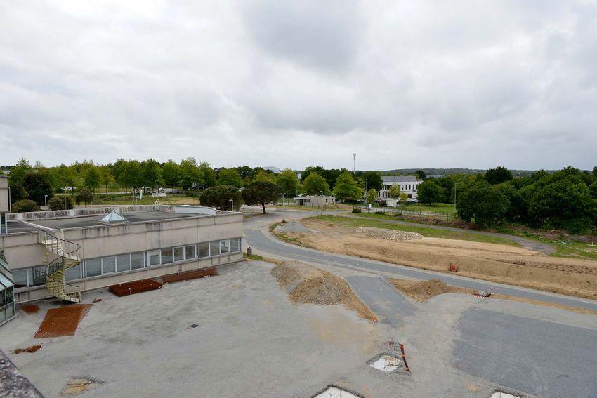 La future zone dédiée au recy-drive en cours d'aménagement.