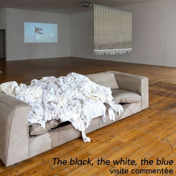 The black, the white, the blue, visite commentée