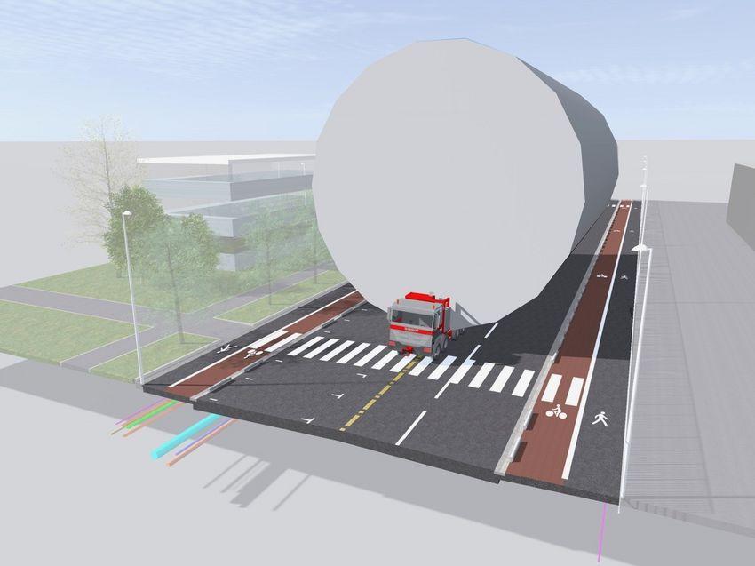 Le nouveau boulevard pourra être entièrement consacré au passage de colis XXL quand ce sera nécessaire.