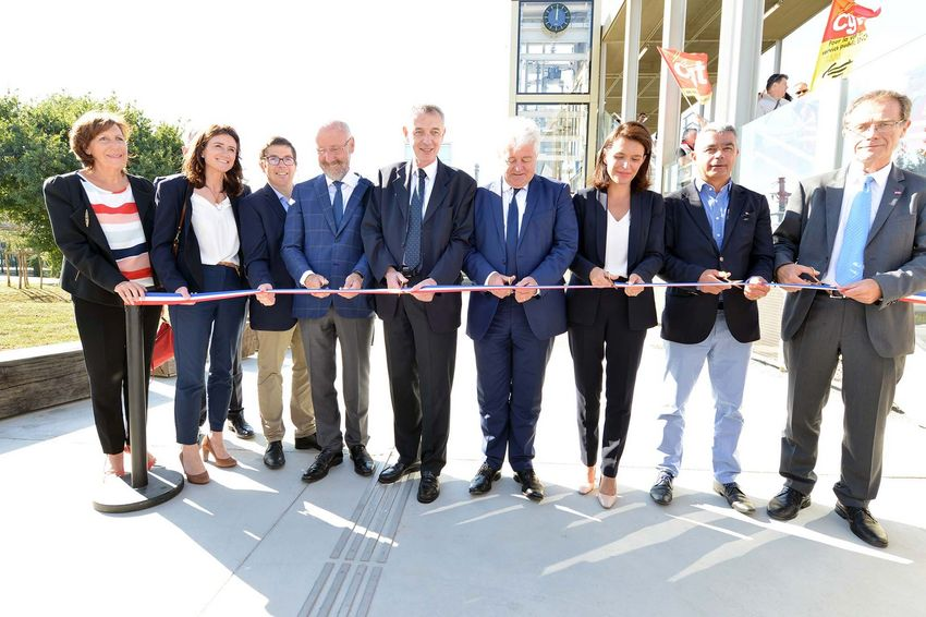 Inauguration de la gare de Saint-Nazaire - mardi 17 septembre 2019. © Martin Launay - Ville de Saint-Nazaire