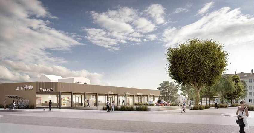 Le nouveau centre commercial de la Trébale. © Spectrum.