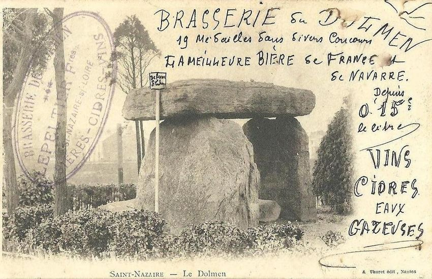 Carte de la Brasserie cidrerie du Dolmen (©Collection privée Philippe Bonnet)