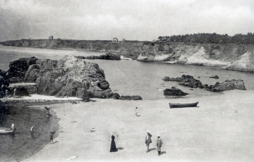Saint-Marc et sa plage à marée basse au début du 20e siècle.