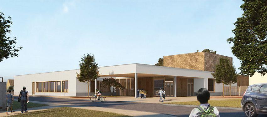 Le futur pôle Brossolette au niveau de l'école du quartier du Petit Caporal accueillera de nouveaux services. ©Mabire-Reich architectes