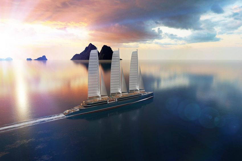 Le navire à voiles Silenseas (©Chantiers de l'Atlantique)