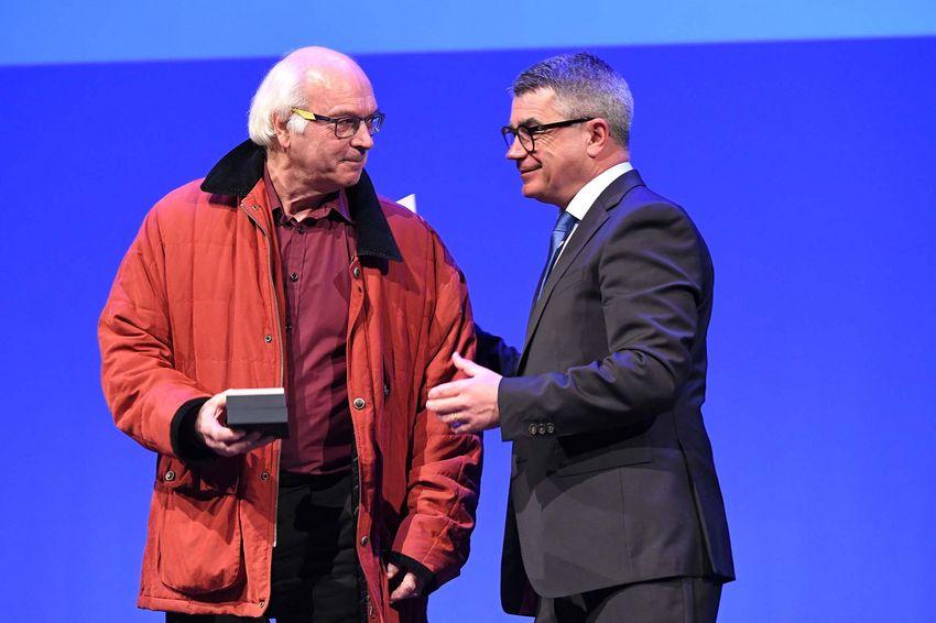 Yves-Marie Leroux avec David Samzun.