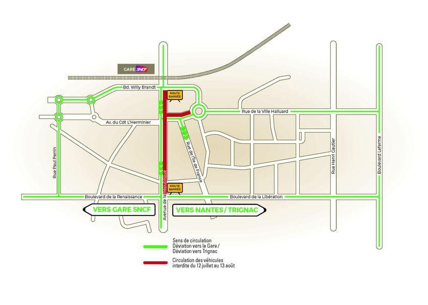 Le plan de circulation du 12 juillet au 13 août 2021