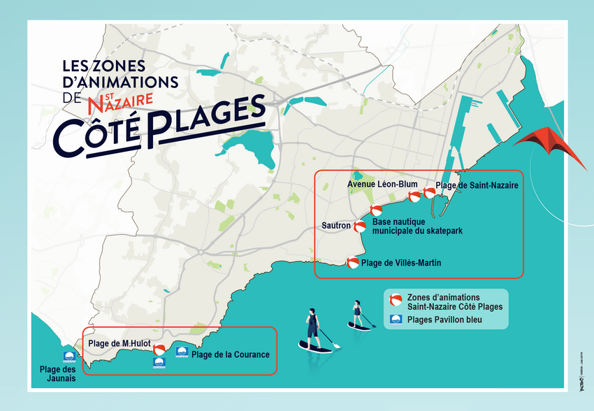 Saint-Nazaire côté plages 2019 - La carte