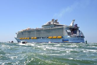 L'harmony of the seas a pris la direction de Southampton.