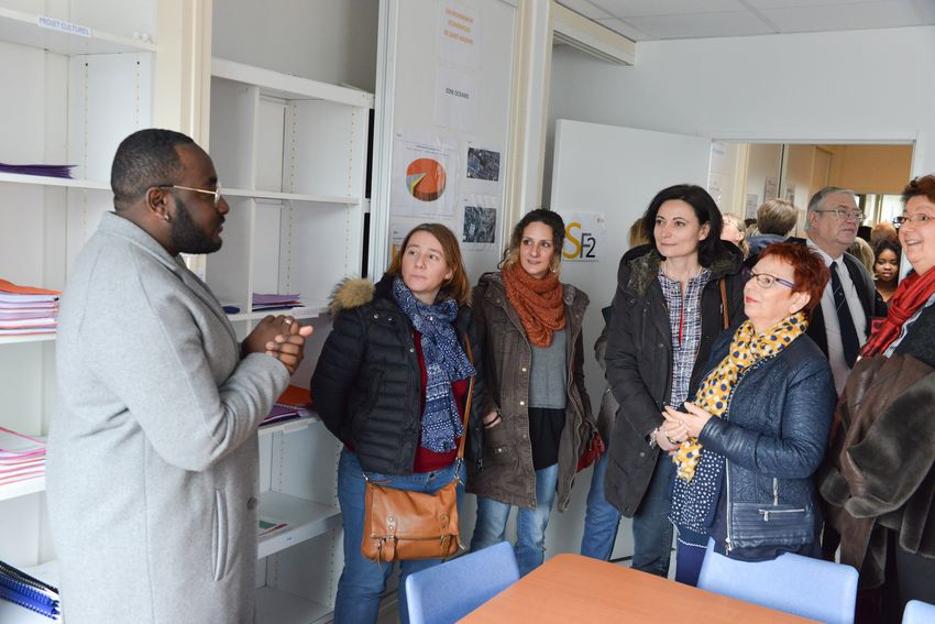 Visite des classes de l'Ecole de la 2e chance à Saint-Nazaire (©Bruno Bouvry)