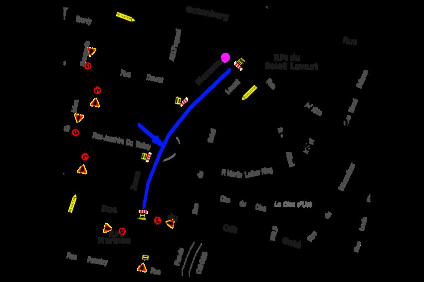Le plan des travaux boulevard Jean-Mermoz