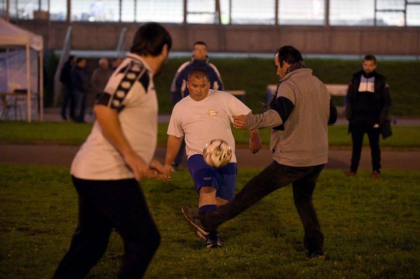 Football avec le SNAF et l'Alerte de Méan.