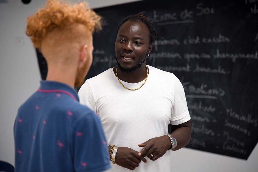 Pamphile délivre des conseils personnalisés à chaque participant (©Ville de Saint-Nazaire - Christian Robert)