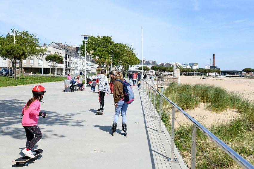 Le front de mer de Saint-Nazaire est apprécié par les promeneurs et les sportifs. ©Ville de Saint-Nazaire - Martin Launay