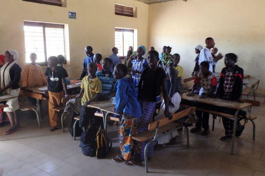 Une salle de classe au Sénégal. ©Alexandra Fablet