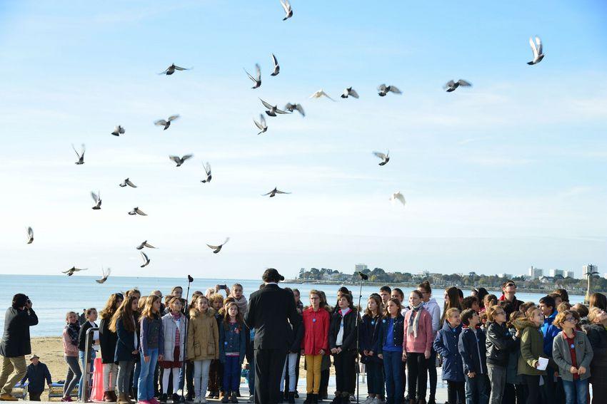 Photo archives : la cérémonie du 11 novembre 2017. © Christian Robert - Ville de Saint-Nazaire