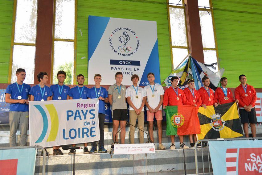 Le podium complet : 1. Pays de la Loire, 2. Allemagne, 3. Portugal.