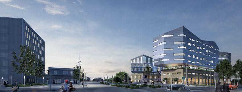 Projet Linkcity Perspective Depuis l'Avenue de la République © Tolia+Gillliland pour LinkCity