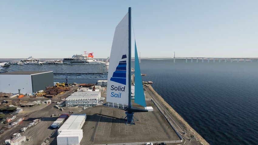 Avec la solution des Chantiers de l'Atlantique « Solid Sail », il est possible de piloter le navire en dissociant sa trajectoire de l'orientation des voiles et d'atteindre 15 nœuds, la vitesse normale d'un paquebot.