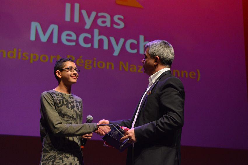 Ilyas Mechych, vainqueur de la catégorie jeunes.