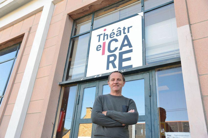 Christophe Rouxel en 2015 devant le Théâtre Icare à Saint-Nazaire. © Ville de Saint-Nazaire - Christophe Rouxel.